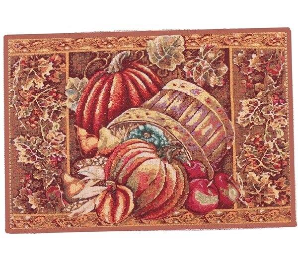 Fall Harvest Bushel Basket Placemat (Set of 4) by Violet Linen