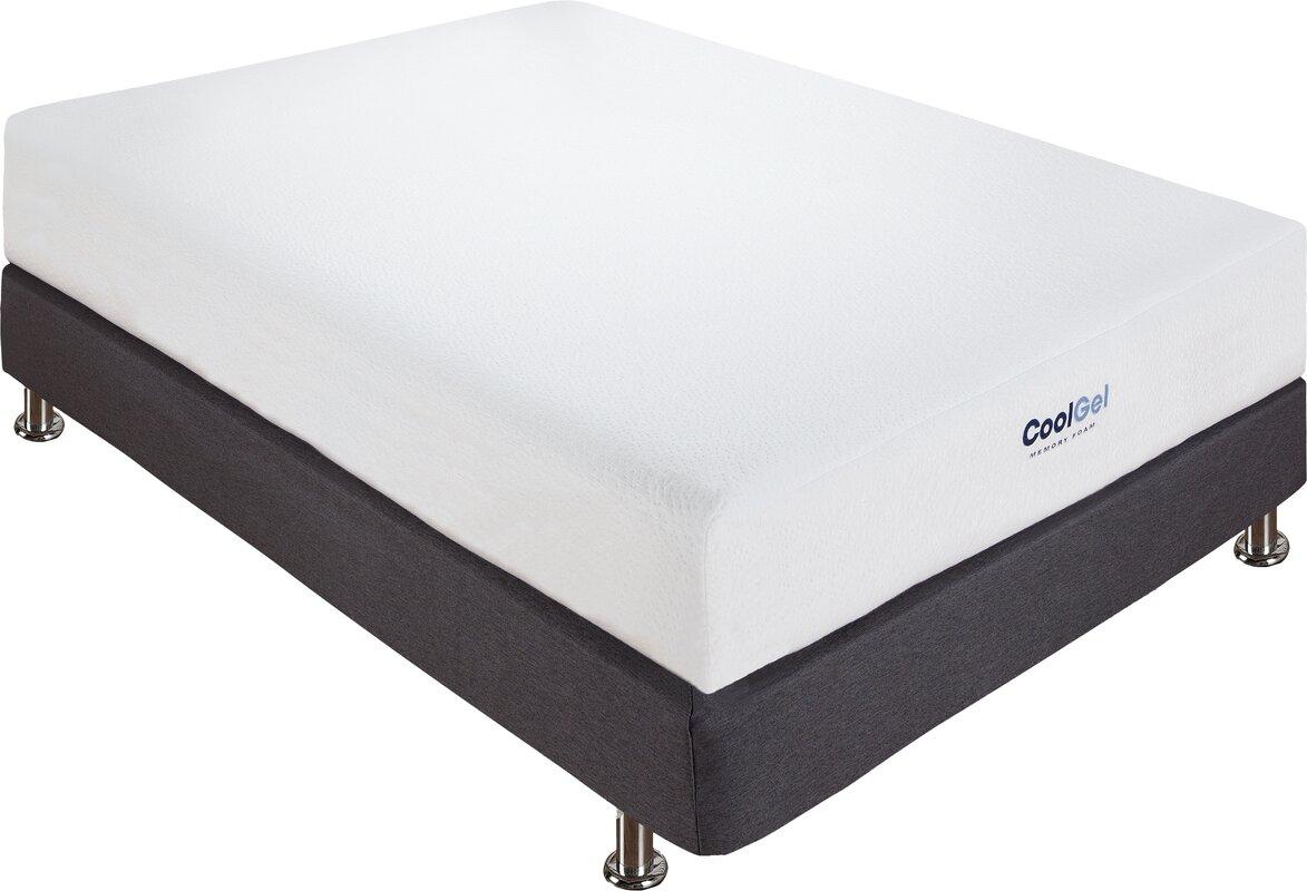 alwyn home 8 firm gel memory foam mattress reviews. Black Bedroom Furniture Sets. Home Design Ideas