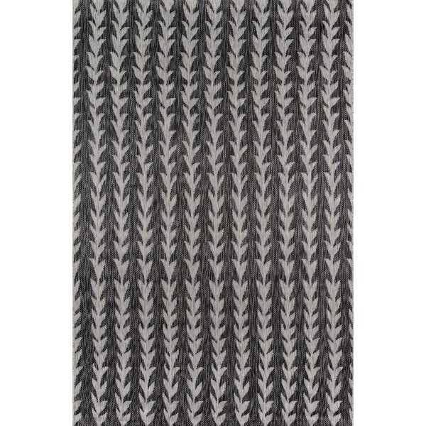 Amalfi Charcoal Indoor/Outdoor Area Rug by Novogratz