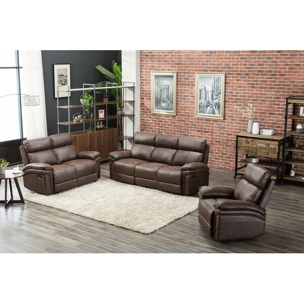 Review Esin 3 Piece Reclining Living Room Set