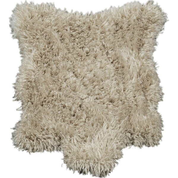 Costantino High Pile Beige Area Rug by Wrought Studio