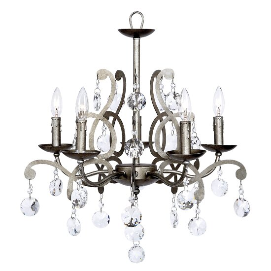 Elegance 5-Light Candle Style Chandelier by Jubilee Collection