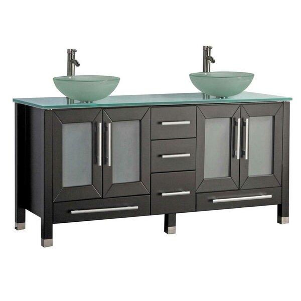 Prange Modern 61 Double Bathroom Vanity Set