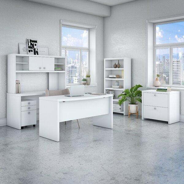 Echo 6 Piece Desk Office Suite by Kathy Ireland Office by Bush
