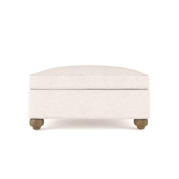 Austin Vintage Leather Ottoman by Canora Grey