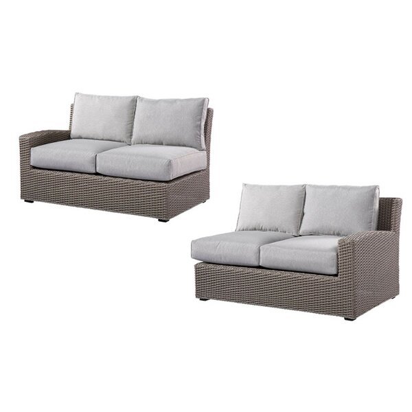 Pleasant Avenue Left and Right Side Facing Love Seat Sectional with Cushions by Rosecliff Heights