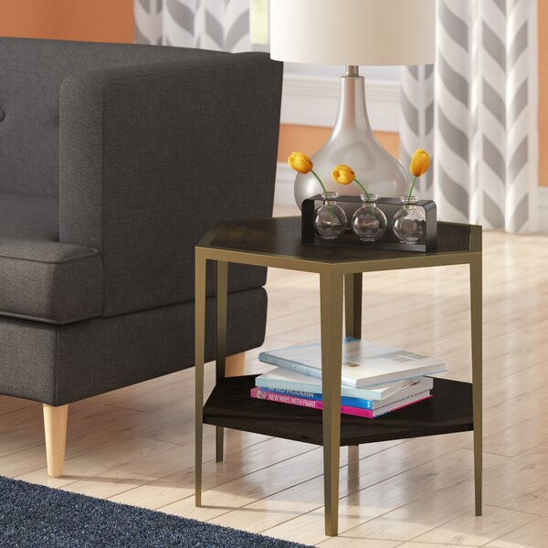 Briggs Geometric End Table by Brayden Studio Brayden Studio
