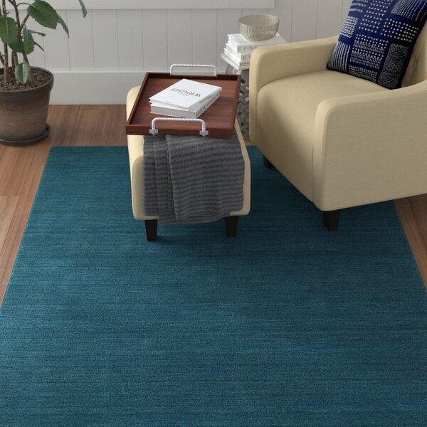 McCabe Hand-Loomed Turquoise Area Rug by Red Barrel Studio