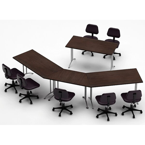 Meeting Seminar 4 Piece 30H x 90W x 150L Conference Table Set by Team Tables