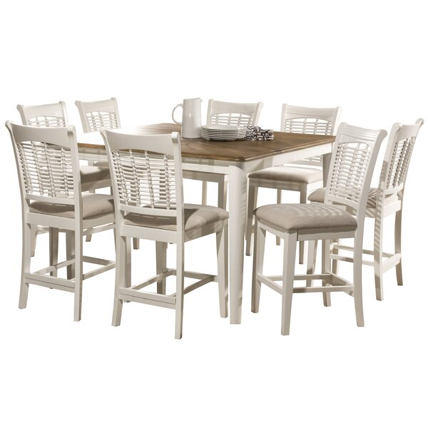 Hartling Bayberry 9 Piece Counter Height Dining Set by August Grove August Grove