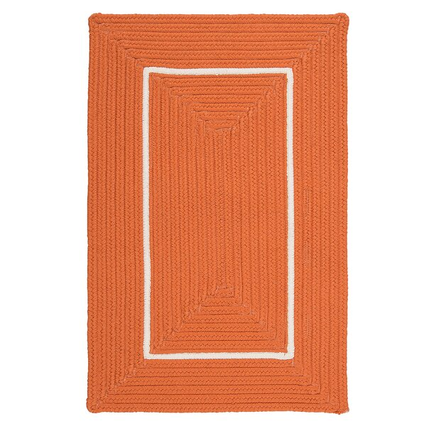 Maven Border in Border Braided Orange Indoor/Outdoor Area Rug by Bay Isle Home
