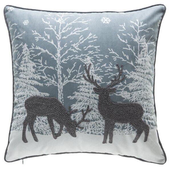 Reindeer Throw Pillow by 14 Karat Home Inc.