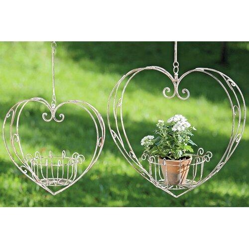 2-tlg. Blumenampel-Set Heart Home Etc   Dekoration > Dekopflanzen > Blumenampeln   Home Etc