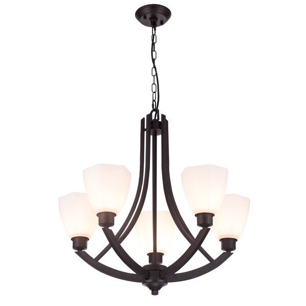 Bishop 5 - Light Shaded Classic / Traditional Chandelier By Red Barrel Studio