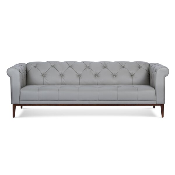 Diez Leather Chesterfield Sofa by Darby Home Co