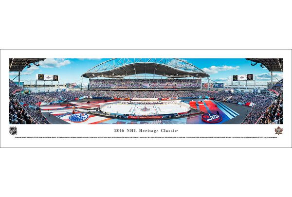 NHL Heritage Classic 2016 Jets vs Oilers Photographic Print by Blakeway Worldwide Panoramas, Inc