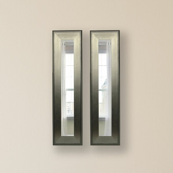 2 Piece Wanneroo Panels Mirror Set (Set of 2) by Wrought Studio