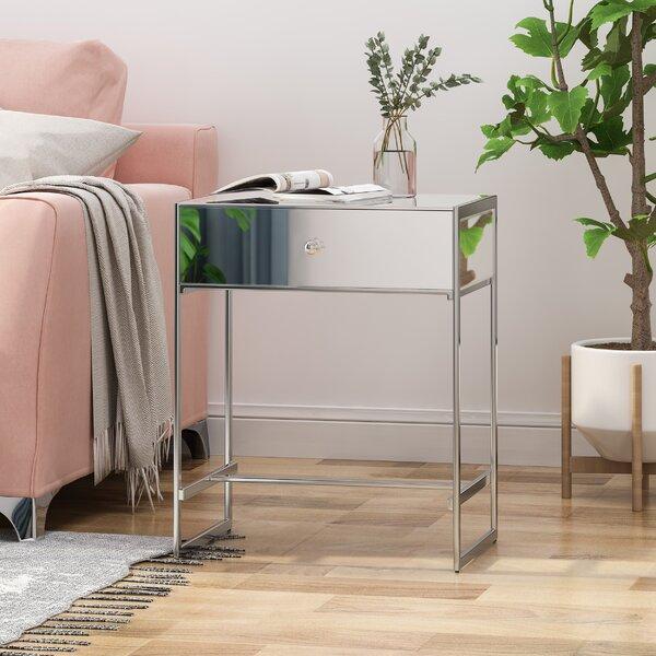 Cardona End Table With Storage By Rosdorf Park