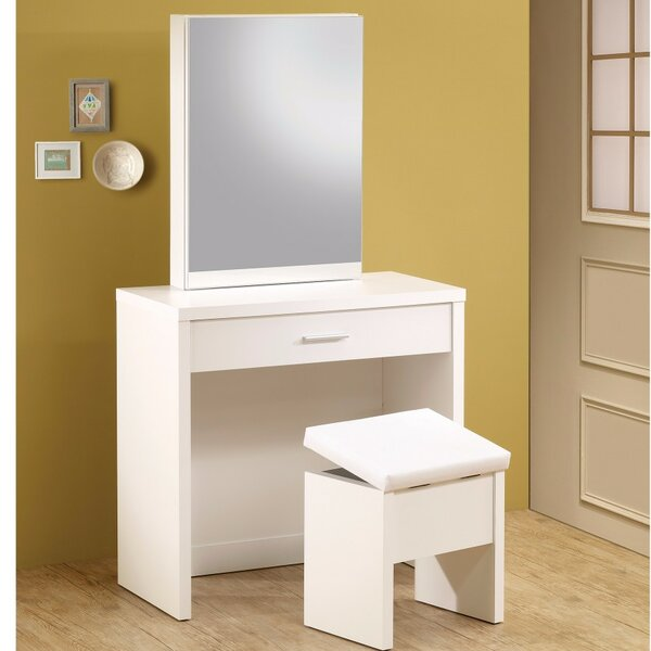 Kalsow 2 Piece Vanity Set with Hidden Mirror by Latitude Run