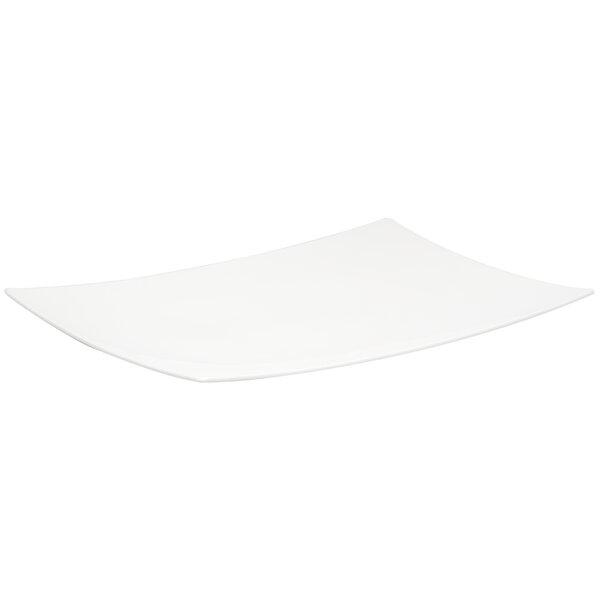Extreme White Rectangular Platter by Red Vanilla