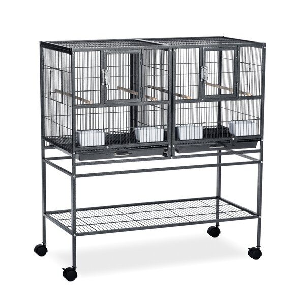 Hampton Deluxe Divided Breeder Cage System with Stand by Prevue Hendryx