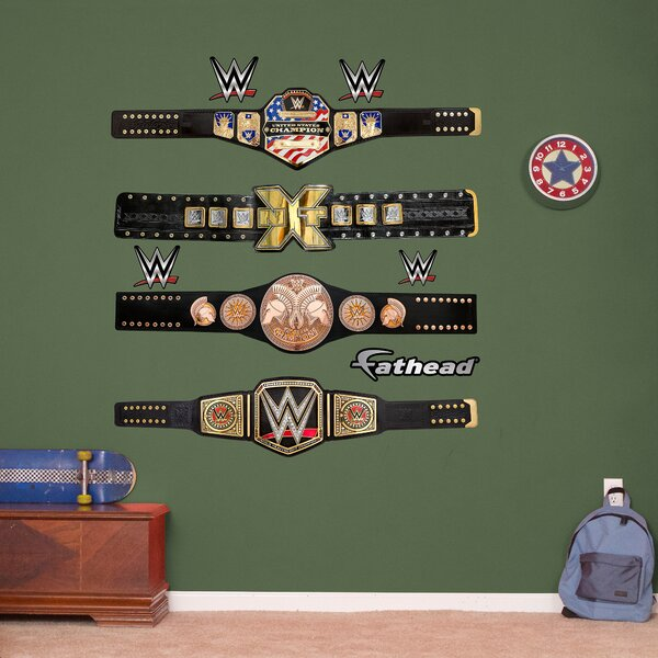 WWE Title Belts Peel and Stick Wall Decal by Fathead