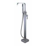 Single Handle Freestanding Tub Filler with Hand Shower by Averen Inc