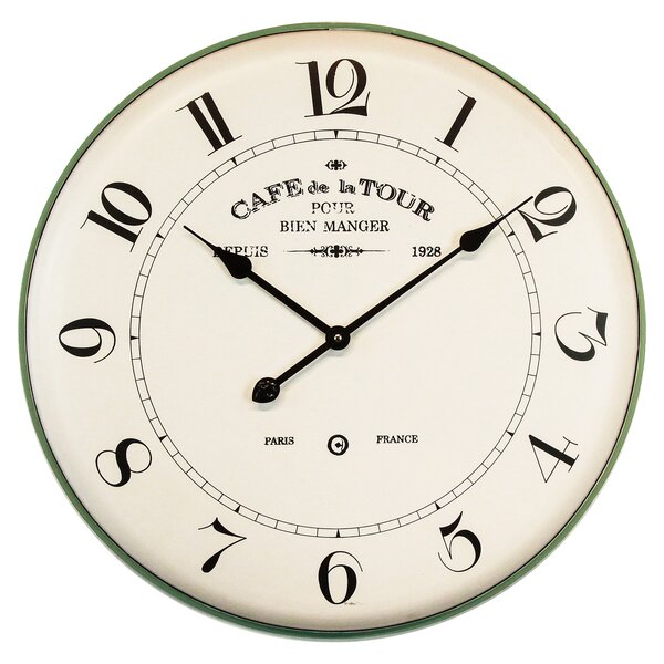 Oversized Arroyo French Café 24.2 Wall Clock by Ophelia & Co.