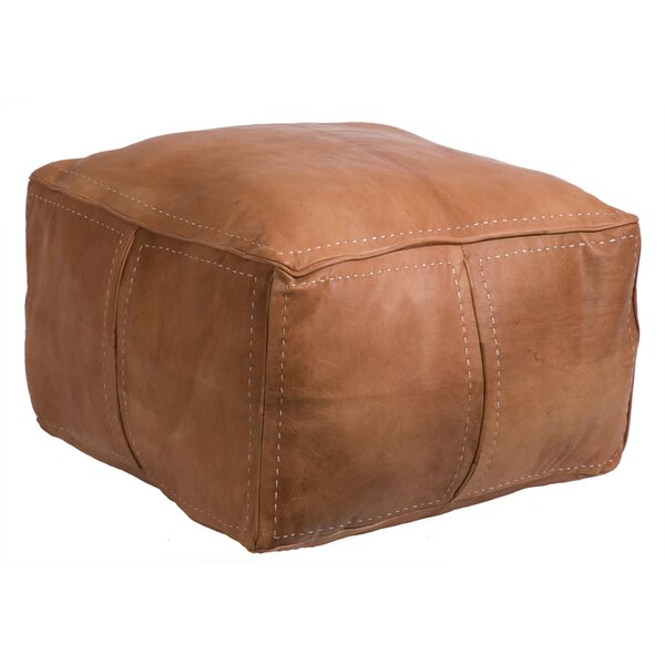 Moroccan Leather Pouf By Casablanca Market Today Sale Only