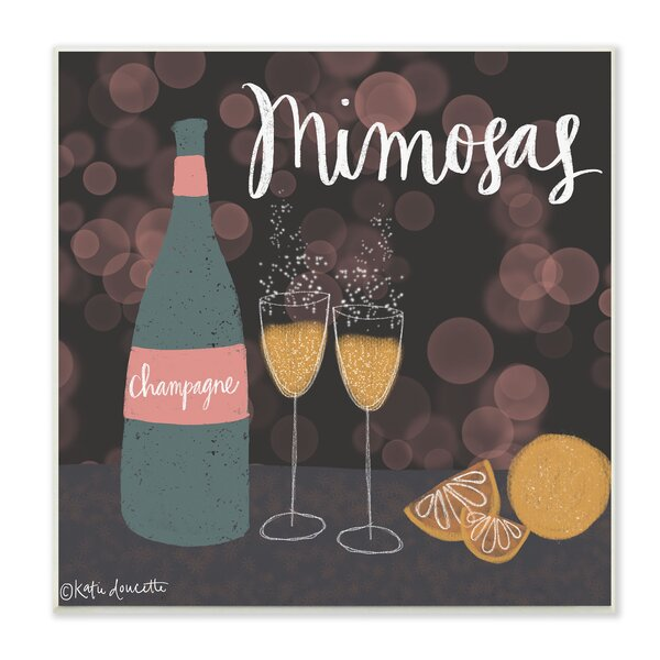 Champagne Mimosas Illustration Graphic Art Print by Stupell Industries