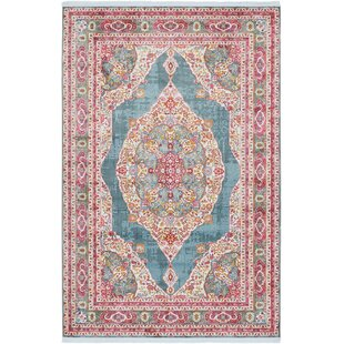 Lonerock Turquoise/Pink Area Rug by Bungalow Rose