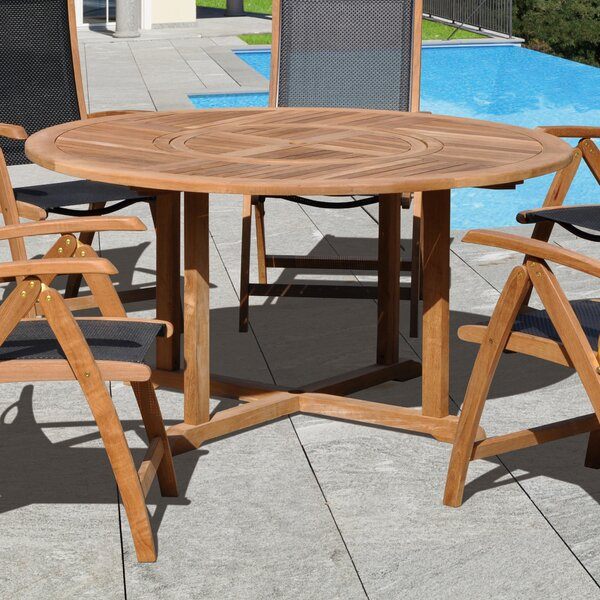 Aguinaldo Round Teak Dining Table by Ivy Bronx
