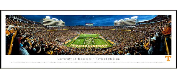 NCAA University of Tennessee - Power T Standard Framed Photographic Print by Blakeway Worldwide Panoramas, Inc