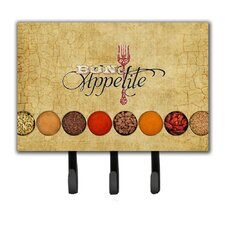 Bon Appetite and Spices Leash Holder and Key Hook by Caroline's Treasures