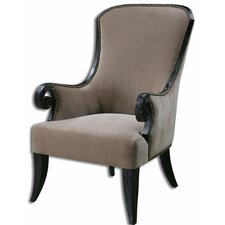 Kandy Taupe Armchair by Uttermost