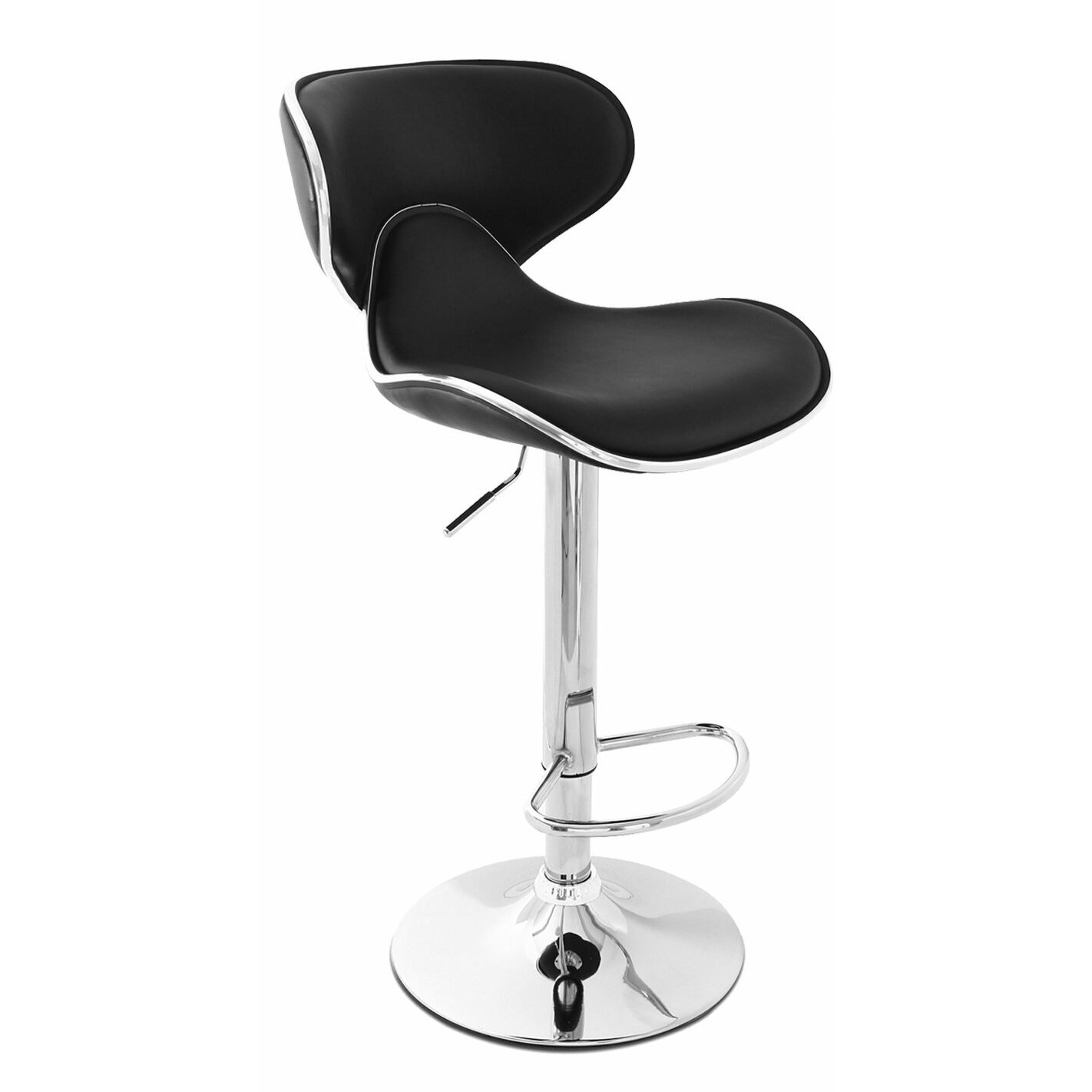 Wade Logan Low Back Adjustable Height Swivel Bar Stool