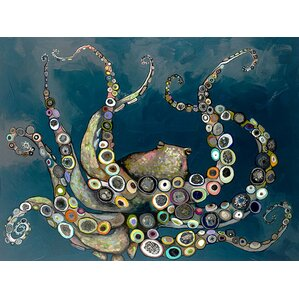 Octopus in the Deep Blue Canvas Print