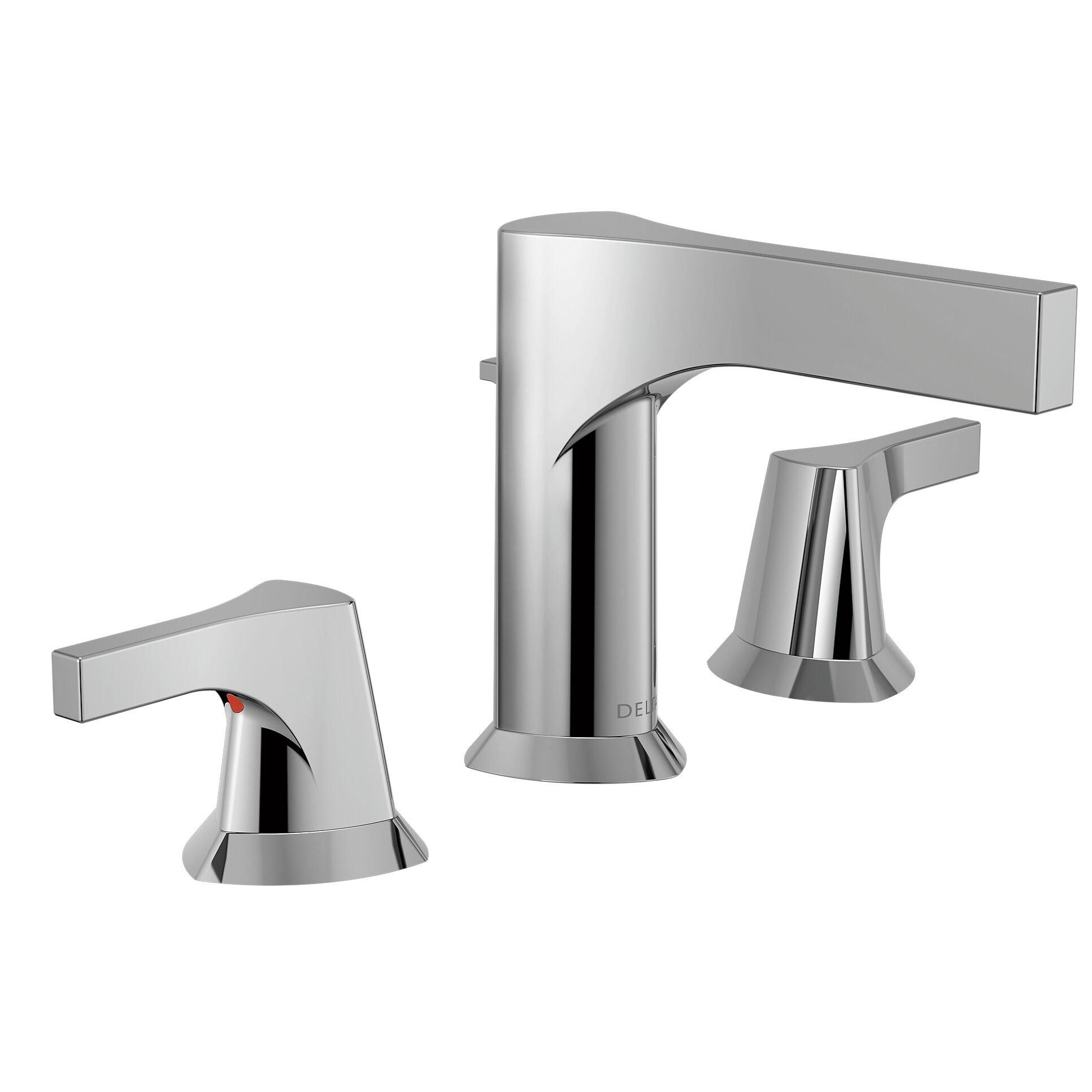 Cross Handle Bathroom Faucet Delta Zura Double Handle Widespread Bathroom Faucet With Drain