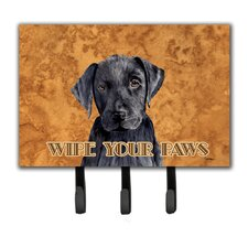 Labrador Wipe Your Paws Leash Holder and Key Hook by Caroline's Treasures