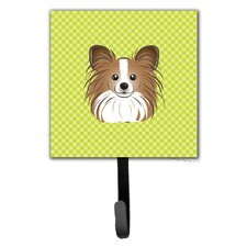 Checkerboard Papillon Leash Holder and Wall Hook by Caroline's Treasures
