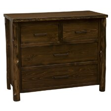 Modern Cedar Premium Low Boy 4 Drawer Standard Dresser by Fireside Lodge