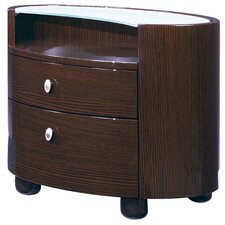 Emily 2 Drawer Nightstand by Global Furniture USA