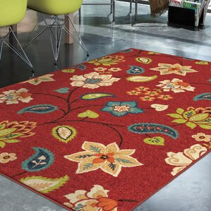 Superior Lymon Red Indoor/Outdoor Area Rug