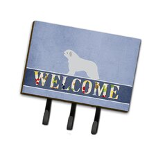 Spanish Water Dog Welcome Leash or Key Holder by Caroline's Treasures