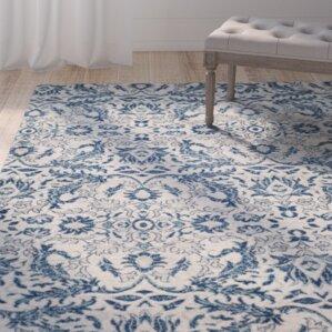 Hayley Ivory / Blue Area Rug