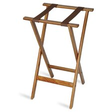 Deluxe Wood Tray Stand with Strap by Central Specialties LTD