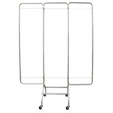 72 x 57 Economy Screen Frame on Casters 3 Panel Room Divider by Omnimed