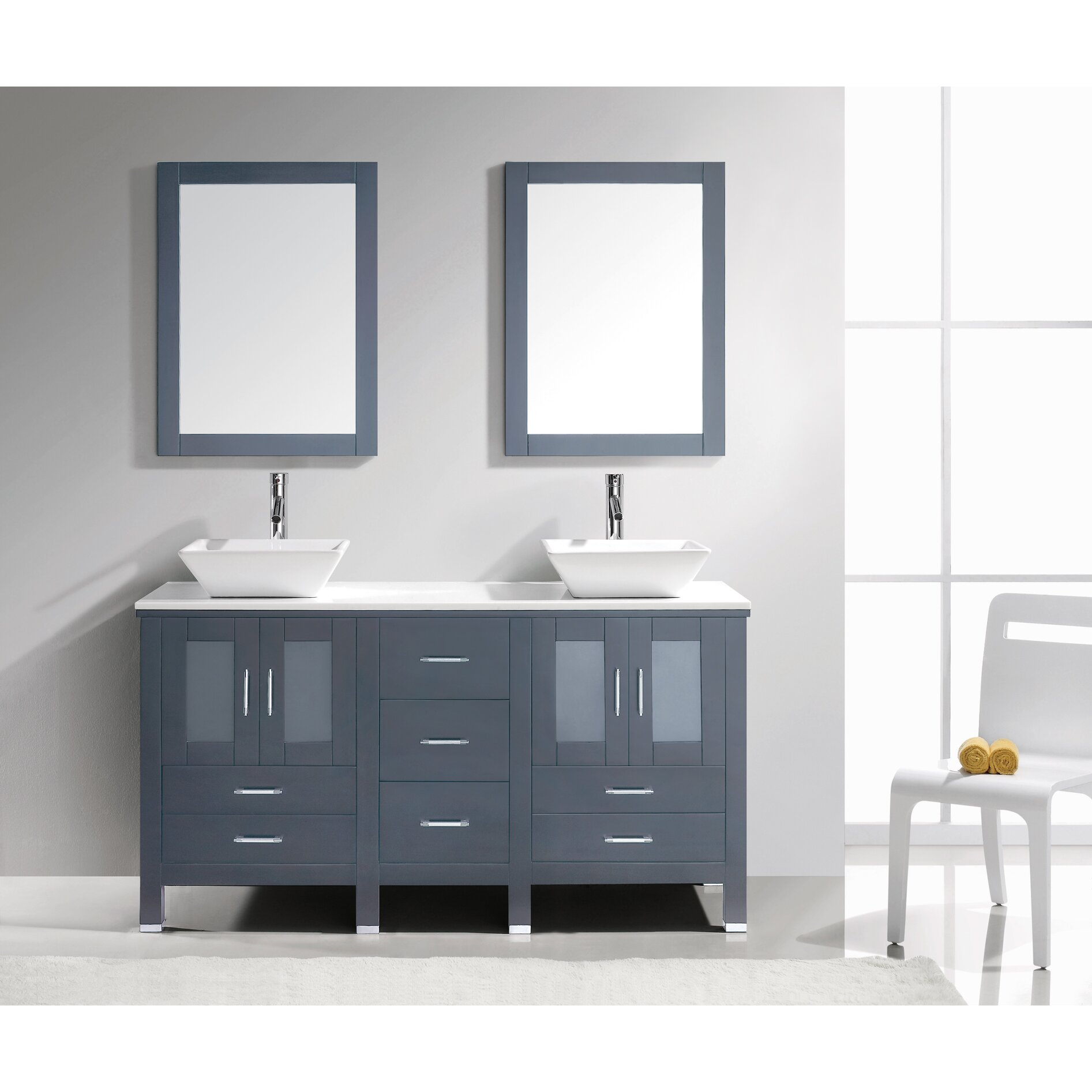 White Double Bathroom Vanities Virtu Usa Bradford 60 Double Bathroom Vanity Set With White Stone