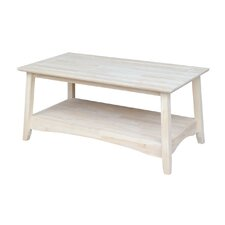 Unfinished Wood Bombay Tall Coffee Table by International Concepts