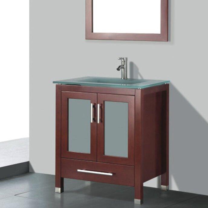 Adornus amara 24 single bathroom vanity set with mirror for Bathrooms r us reviews